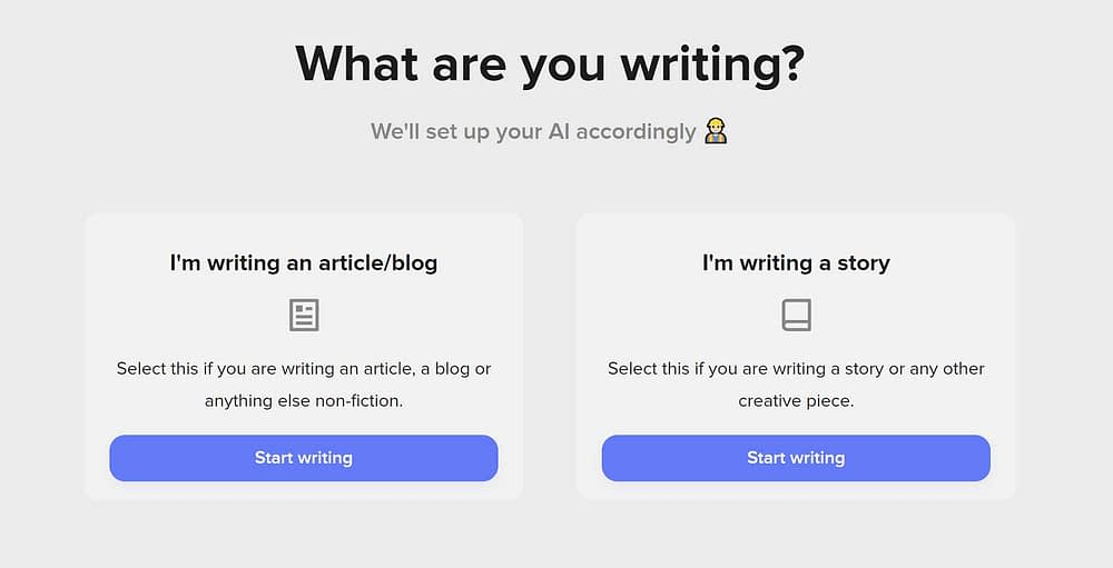 AI content generator - ShortlyAI