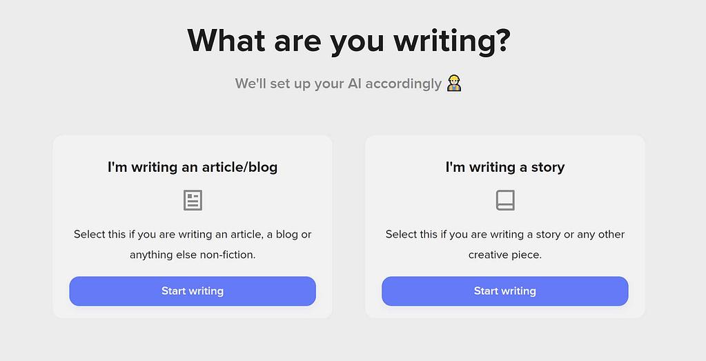 ShortlyAI - AI writing assistant